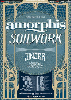 Amorphis Soilwork Jinjer Nailed to Obscurity Garage Saarbrucken