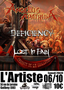 Angelus Apatrida Deficiency Lost in Pain Golbey L'Artiste