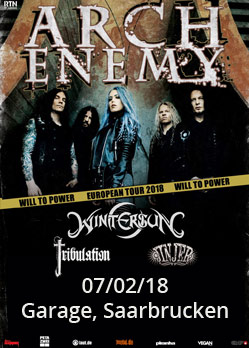 arch enemy wintersun tribulation jinjer garage saarbrucken will to power