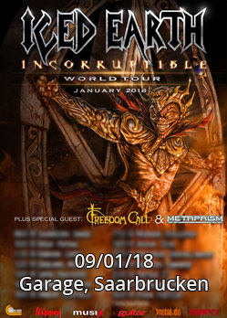 iced earth overkill metaprism freedom call saarbrucken garage